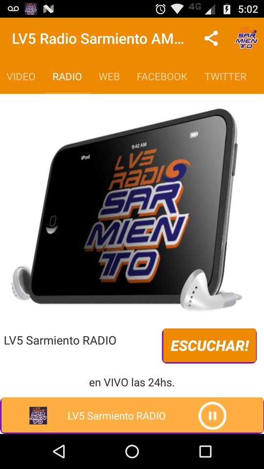 App android, radio FM, online streaming,